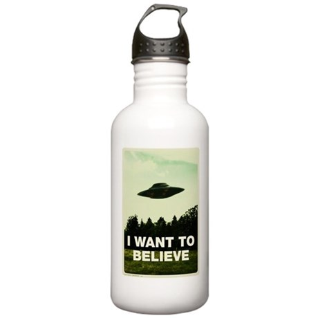 I WANT TO BELIVE Retro-labs.com Stainless Water Bo
