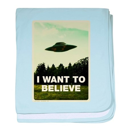 I WANT TO BELIVE Retro-labs.com baby blanket