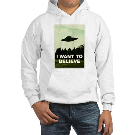 I WANT TO BELIVE Retro-labs.com Hooded Sweatshirt