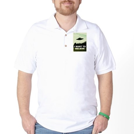 I WANT TO BELIVE Retro-labs.com Golf Shirt