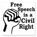 Free Speech is a Civil Right Car Magnet