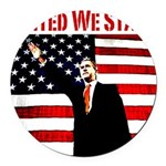 unitedwestand10x10.png Round Car Magnet