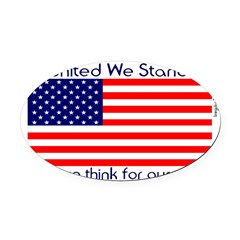 unitedwestand10x10.png Oval Car Magnet