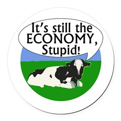 It's the Economy Stupid Cow Car Magnet