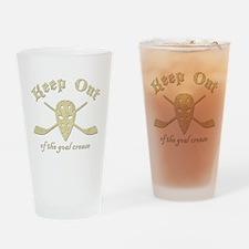 Hockey Goal Crease Drinking Glass