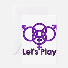 "Swinger Symbol ""Let's Play"" Greeting Car"