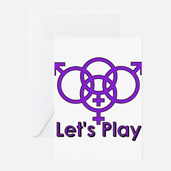 """Swinger Symbol """"Let's Play"""" Greeting Car"""
