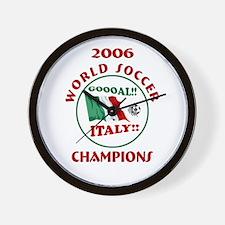 GOAL ITALY! 2006 Champions Wall Clock