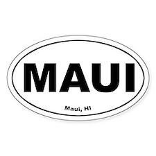 Maui (Hawaii) Oval Decal