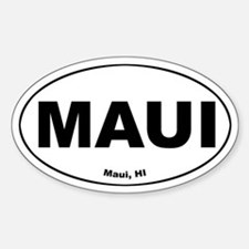 Maui (Hawaii) Oval Decal