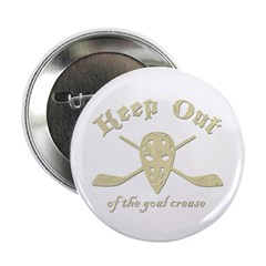 """Hockey Goal Crease 2.25"""" Button (10 pack)"""