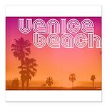 Venice beach Square Car Magnet 3