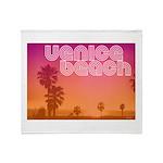 Venice beach Throw Blanket