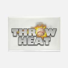 "Baseball ""Chapman G"" Throw Heat Rectangle Magnet"