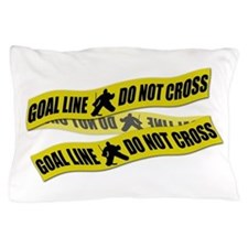 Hockey Crime Tape Pillow Case