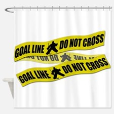 Hockey Crime Tape Shower Curtain