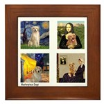 Famous Goldens (cl) Framed Tile