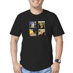 Famous Goldens (cl) Men's Fitted T-Shirt (dark)