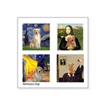 Famous Goldens (cl) Square Sticker 3