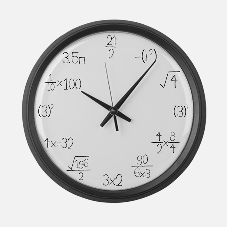 Large Wall Math Clock Large Wall Clock