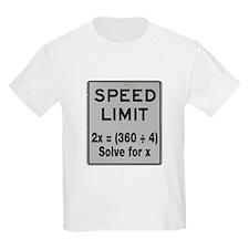 Speed Limit Math T-Shirt