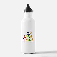 I Love Jesus Water Bottle