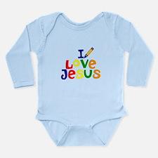 I Love Jesus Long Sleeve Infant Bod