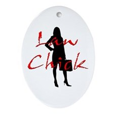 Law Chick Ornament (Oval)