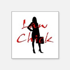 "Law Chick Square Sticker 3"" x 3"""