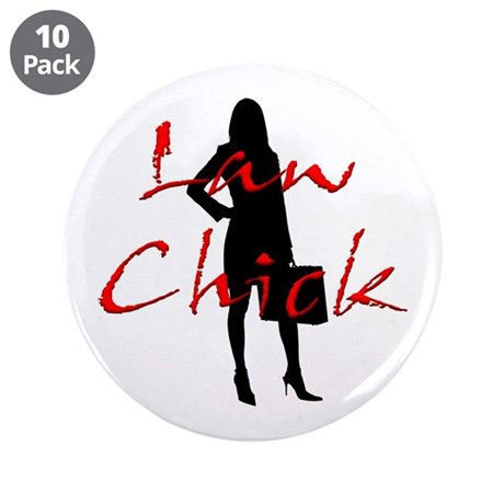 "Law Chick 3.5"" Button (10 pack)"