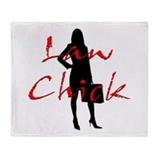 Law Chick Throw Blanket