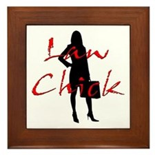 Law Chick Framed Tile