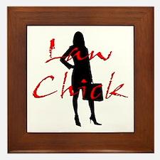 Law Chick Framed Tile
