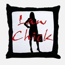 Law Chick Throw Pillow