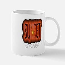 sunset skies Mug