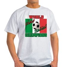 Ciao Italia World Soccer Champs Ash Grey T-Shirt