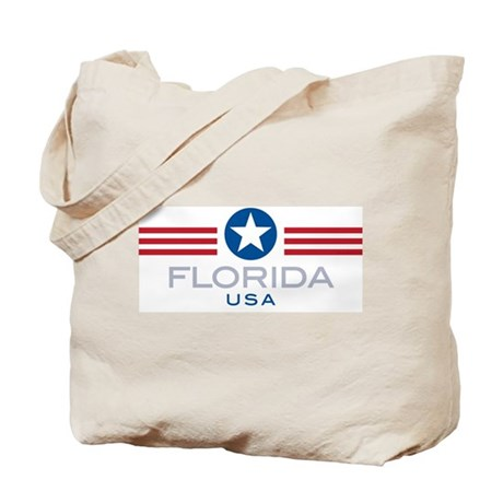 Florida-Star Stripes: Tote Bag
