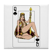 THE QUEEN OF SPADES Tile Coaster
