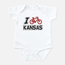 I Love Cycling Kansas Infant Bodysuit