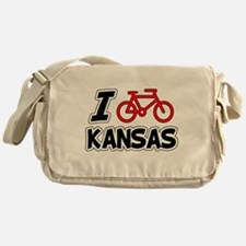 I Love Cycling Kansas Messenger Bag