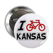 "I Love Cycling Kansas 2.25"" Button"