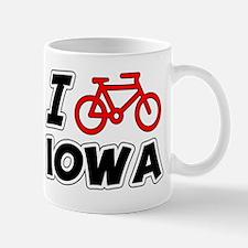 I Love Cycling Iowa Mug