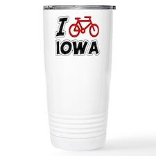 I Love Cycling Iowa Travel Mug