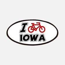 I Love Cycling Iowa Patches
