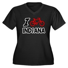 I Love Cycling Indiana Women's Plus Size V-Neck Da