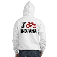 I Love Cycling Indiana Hoodie