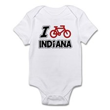 I Love Cycling Indiana Infant Bodysuit