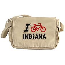 I Love Cycling Indiana Messenger Bag