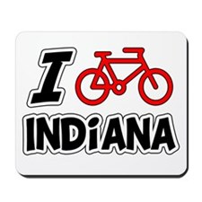 I Love Cycling Indiana Mousepad