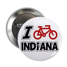 """I Love Cycling Indiana 2.25"""" Button"""